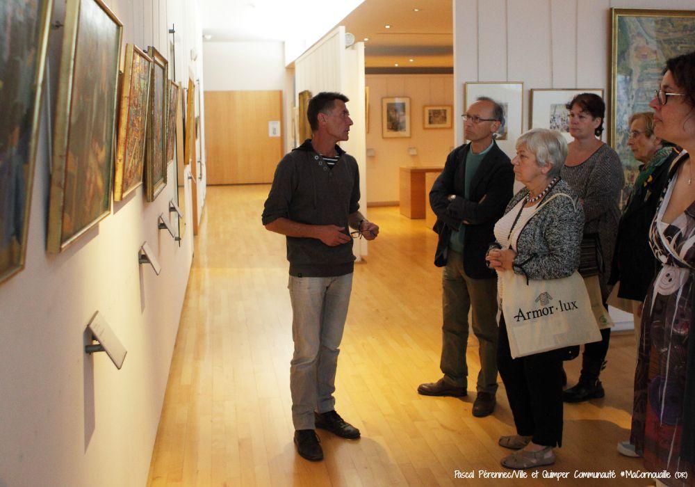 Quimper le 27 Septembre 2014 Réception mairie Accueil nouveaux quimpérois et visites patrimoine ville, musée des beaux arts et théâtre de cornouaille. visite MBA