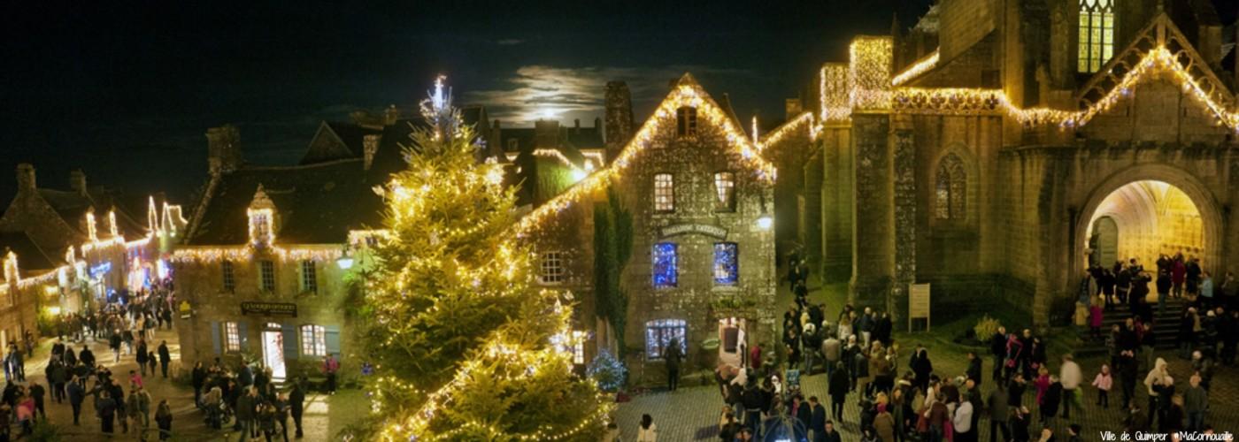 Trouvez l'esprit de Noël au marché nocturne de Locronan MaCornouaille