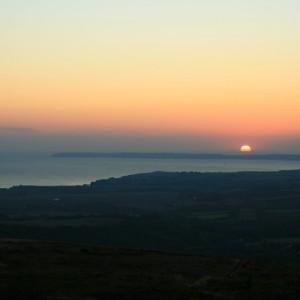 Coucher de soleil 360° au Menez-Hom