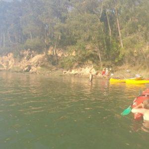 avenDescendre l'Aven en kayak au coucher du soleil