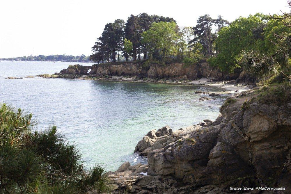 Le sentier côtier entre Cap Coz et Beg Meil